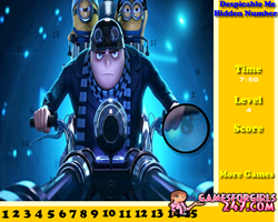 Despicable Me Hidden Numbers