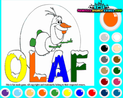 Frozen Olaf Coloring