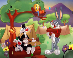Looney Tunes Hidden Letters