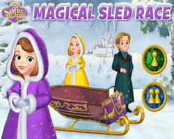 Sofia The First Magical Sled Race