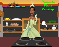 Princess Tiana Cooking