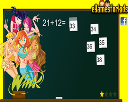 Winx Club Addition Math Quiz