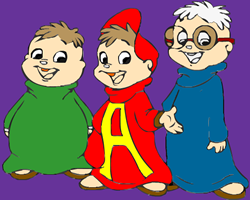 Alvin and The Chipmunks Coloring