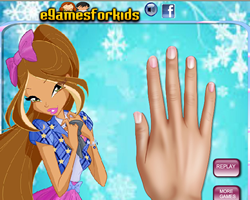 Winx Club Flora Nails Makeover